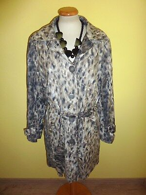 Trenchcoat Animalprint Leo Größe 42 wie neu Animal Print Trench