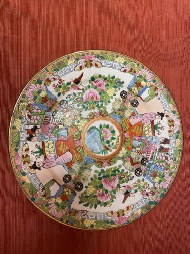 "Rose Medallion Vintage Chinese Porcelain Famille Plates 10"""