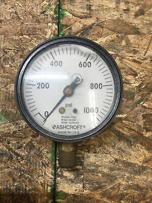 Ashcroft 0-1000 Psi Pressure Gauge