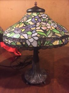 Two Tiffany style lamps