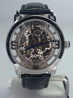 Stuhrling Original Skeleton Automatic Watch USED Clean Working 20 Jewels