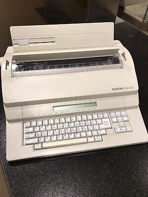 Brother Em-630 Qwerty Electronic Word Processortypewriter Excellent Condition