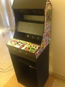Kit mueble bartop arcade con pedestal maquina recreativa for Mueble recreativa
