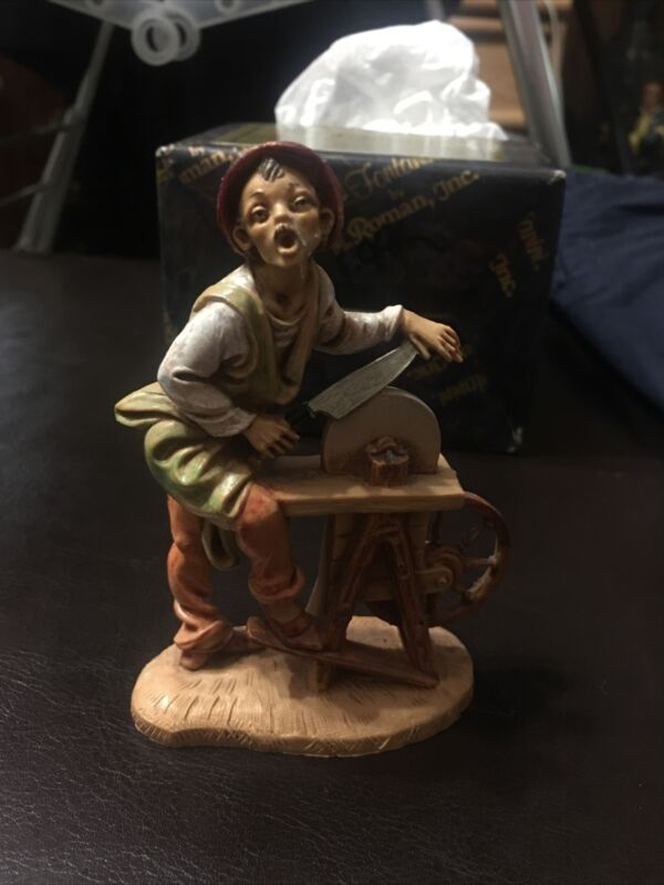 """Fontanini 5"""" Collection """"Stefano, the Knife Sharpener"""" 1998 #96676 Signed"""