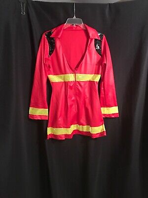 Fire Girl Costume Halloween (Leg Avenue Womens Halloween Costume Sexy Firefighter Fire Girl Size)