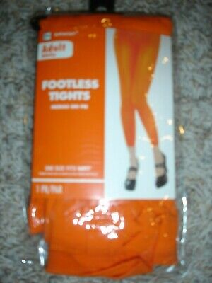 NEW orange stretch footless tights Amsca adult OSFM up to 160 lbs Footless Adult Tights