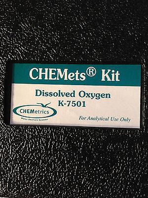 Chemetrics K-7501 Chemets Dissolved Oxygen Kit 4720-01-468-9779 W 30 Ampoules