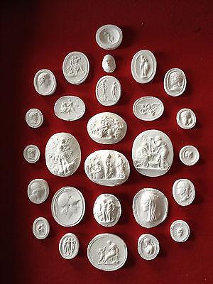#1. 27 Grand Tour Cameos intaglios Gems Medallions plaster cameo seals Classic