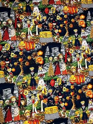Boo Halloween Party (Boo Hoffman Halloween Day of the Dead Skeleton Wedding Party Scenic Fabric)