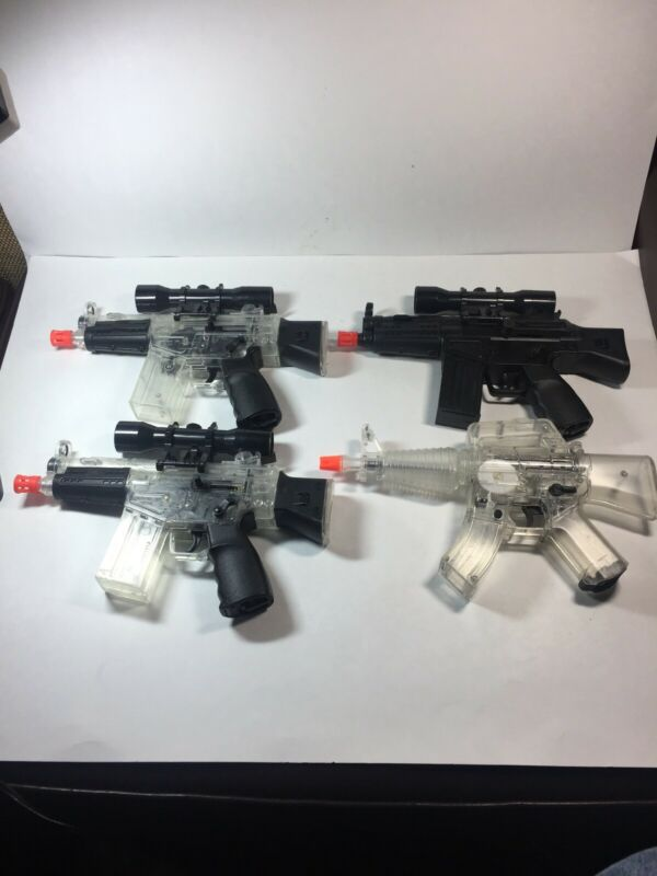 Lot of 4 Airsoft Guns 2 Great Working Condition 2 For Parts/Repair R/DESCRIPTION
