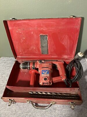 Milwaukee 5362-1 1 Hawk Rotary Hammer Drill Excellent Working With Two Bits