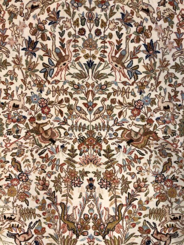 Fabulous Floral - 1960s Antique Oriental Rug - Handmade Carpet - 8.4 X 10.9 Ft