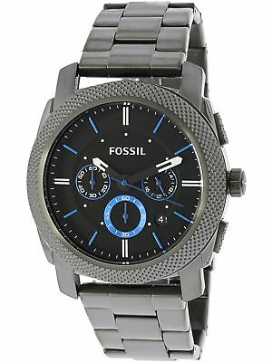 Fossil Men's Machine FS4931 Grey Stainless-Steel Plated Japanese Quartz Fashi...