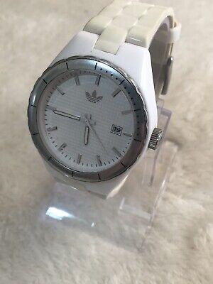 ADIDAS White 'Cambridge' Ladies Watch ADH2025 w/Date - Polyurethane Strap