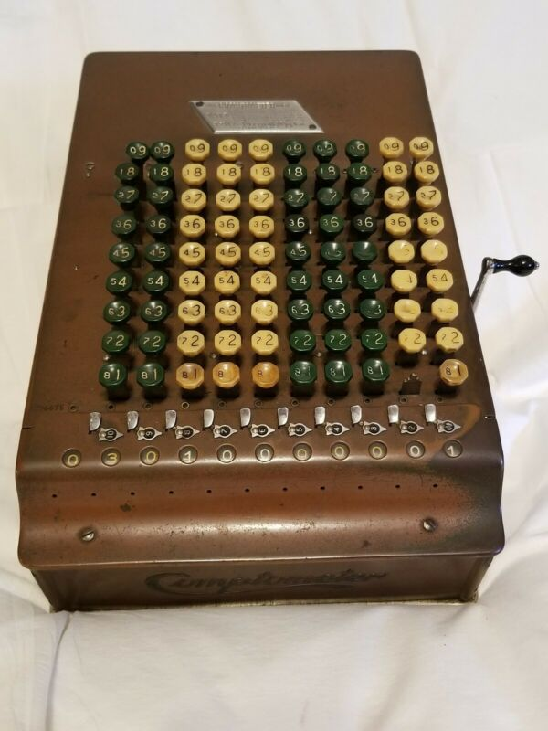 Vintage Antique Comptometer Felt & Tarrant Mfg Chicago Adding Machine