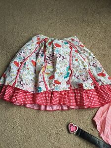 Size 7 girls clothes and belts