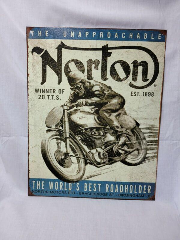 Norton Winner Motorcycle British Metal Sign