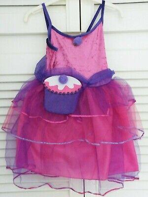 Girl's Cupcake Fairy Pink & Lilac Dress & Cupcake Bag Fancy Dress Costume 3/5yrs