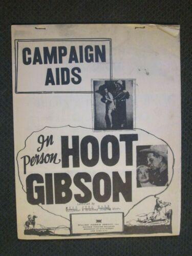 Hoot Gibson   - Original 1934 In Person Pressbook - Universal Studios
