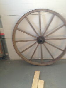 Pair of Antique Wagon Wheels