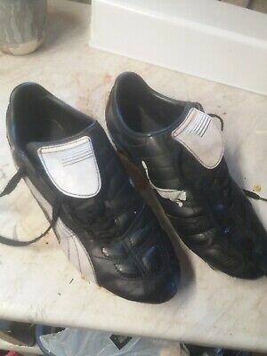 Puma studded black Football Boots Size UK 9