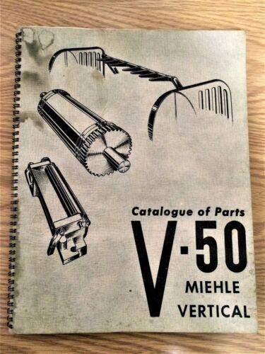 RARE MIEHLE VERTICAL V-50 CATALOG OF PARTS PICTORIAL MANUAL Printing PRESS