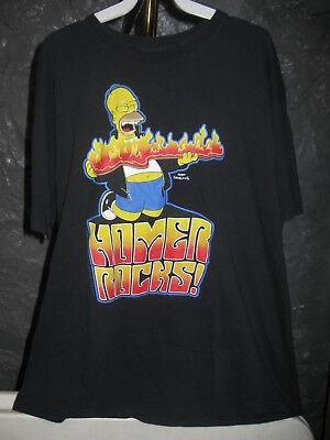 (Homer Simpsons The Simpsons Classic Black Homer Rocks XL T-Shirt)