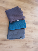 3x throw rugs/blankets- 2 grey & 1 turquoise- great condition. Hammond Park Cockburn Area Preview