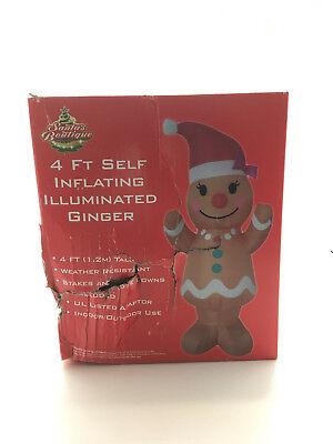 Blow Up Yard Decorations (Santa's Boutique Christmas Blow-Up Yard Decorations, Gingerbread)