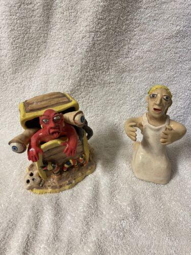 Stacy Lambert Pottery Figurine Set Seagrove