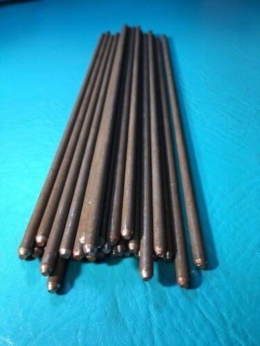 "30 Steel Round Metal Rod Tapered Beveled Ends Pins Bar Welding Craft Stick 3/16"""