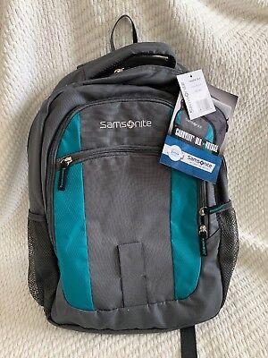 NWT Samsonite laptop voyage backpack carrylite DLX gray teal travel