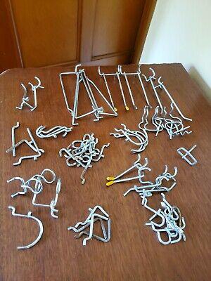 Peg Board Hooks Assortment Lot Of 55