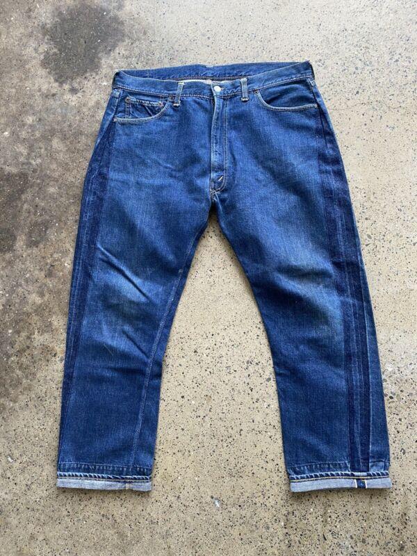 vtg 60s Big E Levis 502 Zipper Selvedge Denim Jeans 501xx Dark Pants Workwear