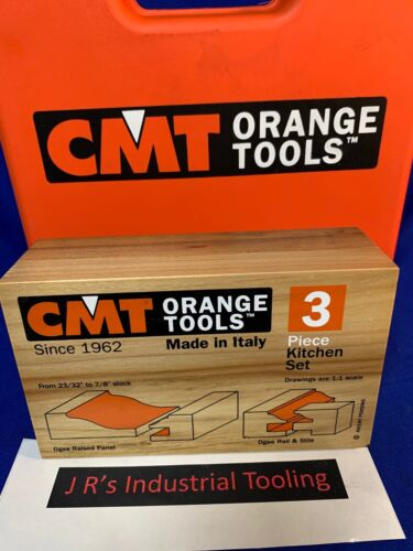 CMT Tools  800.513.11 -  3-Piece Ogee Kitchen Set, 1/2-Inch Shank