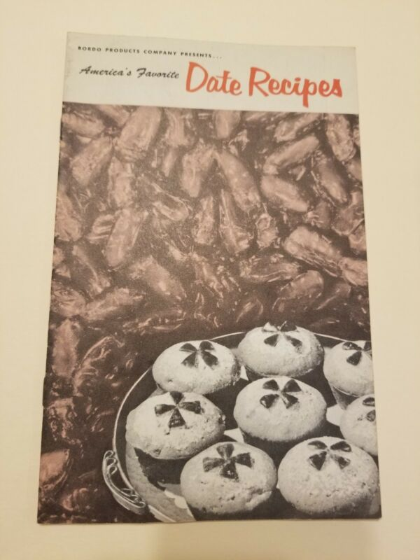 Vintage  1950s BORDO Products Co. DATE Recipes Advertising Booklet