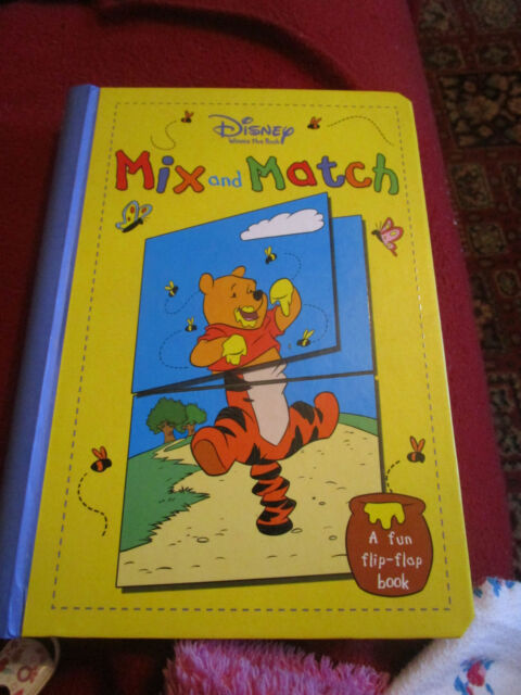 Disney  Winnie the Pooh  Mix and Match by Parragon Plus (Hardback, 2006)used .