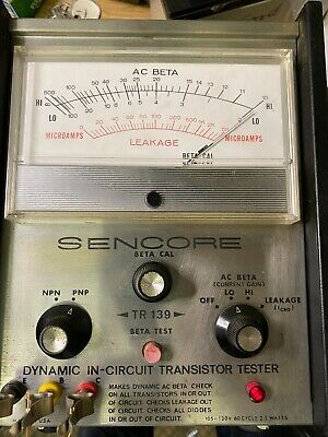 Vintage Sencore Beta Cal Tr-139 Dynamic In-circuit Transistor Tester Working