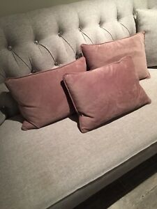Velvet pillows  (3)