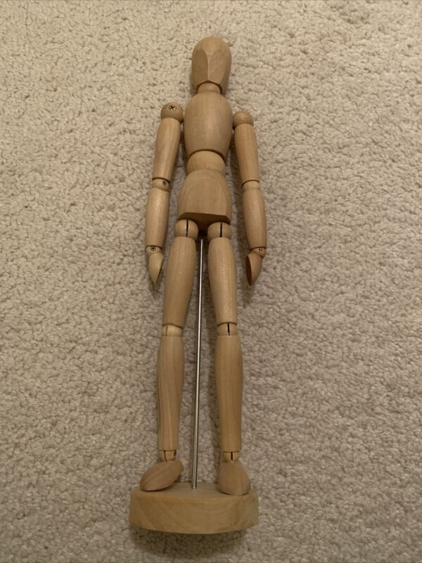 """12"""" Jointed Wooden Drawing Artist Figure Mannequin Model, Posable"""