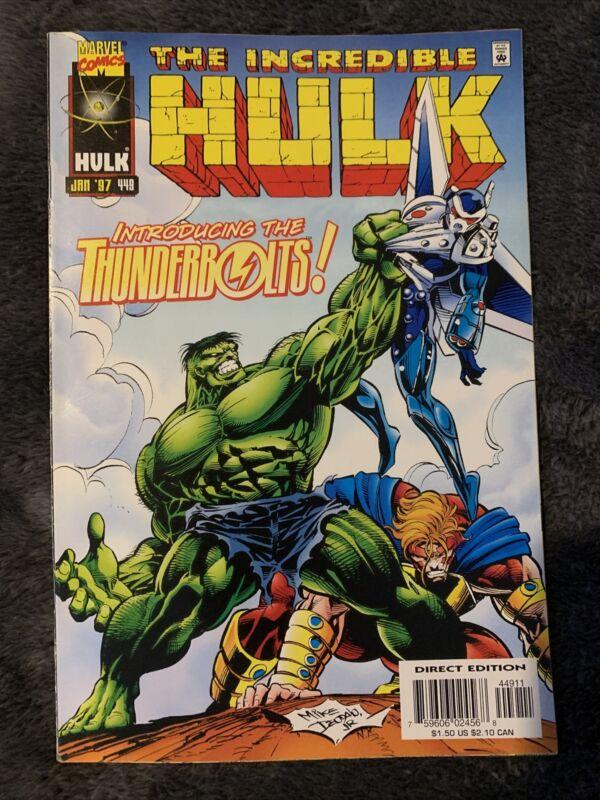 Incredible Hulk #449 1st Thunderbolts  1997 Marvel