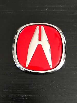 """1 PIECE 3"""" DIAGONAL Red """" A """" ACURA Integra EMBLEM BADGE With Adhesive"""