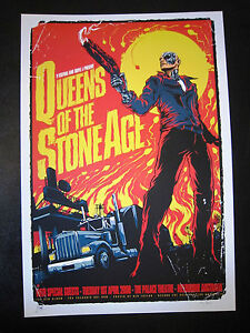 QUEENS OF THE STONE AGE MELBOURNE 08 CONCERT POSTER ART KEN TAYLOR