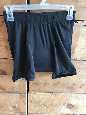 Cycle Liner Shorts (ZOIC Cycle BIKE Inside Liner Shorts Size MEDIUM Poly SPANDEX Black w/ Padding)