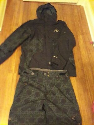 686 Smarty Mens Snowboard Jacket And Pants Large No Inside Liners