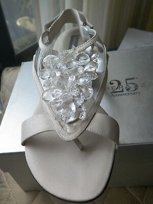And 1 Heels (APEPAZZA SALE, sandals size 7 M, leather, satin and lucite, 1