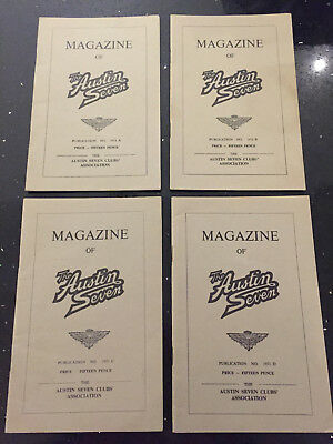 Magazine of the Austin Seven Club 1970 A, B, C and D Copies