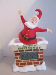 Large Hallmark 15 Santa Countdown to Christmas Digital Tabletop Clock. New