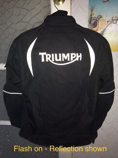 Triumph Stealth Motorcycle Jacket Size 42