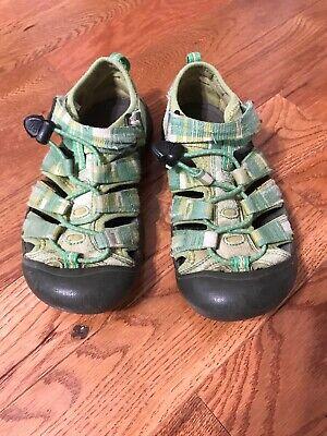 Boys Girls Size 2 Keen Newport H2 Green Quick Dry Waterproof Sandals Shoes - Peachy Boys